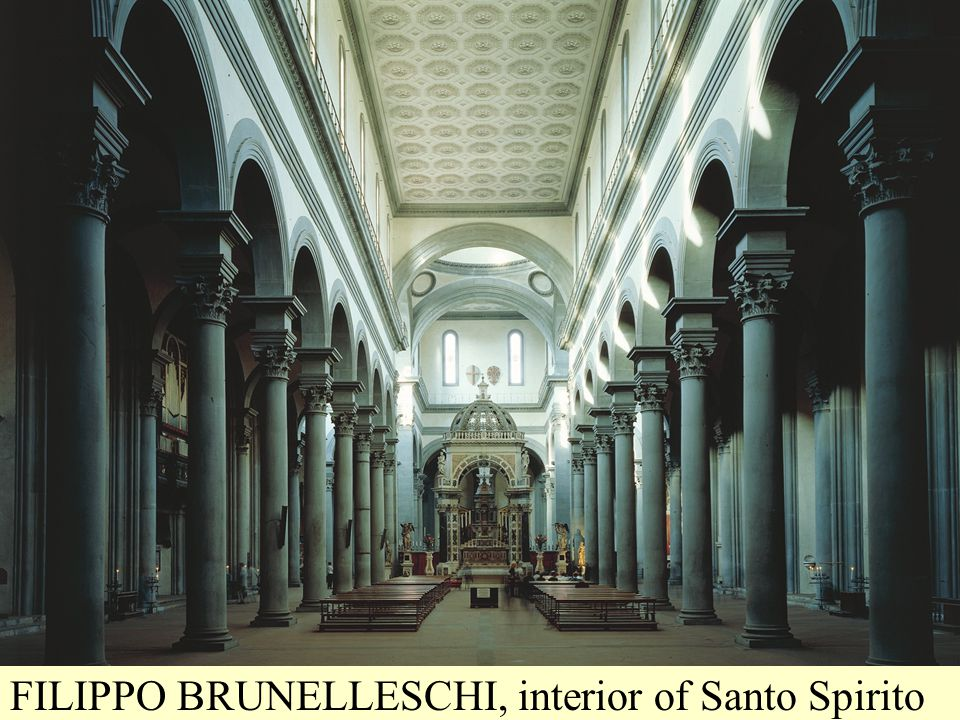 FILIPPO BRUNELLESCHI, interior of Santo Spirito