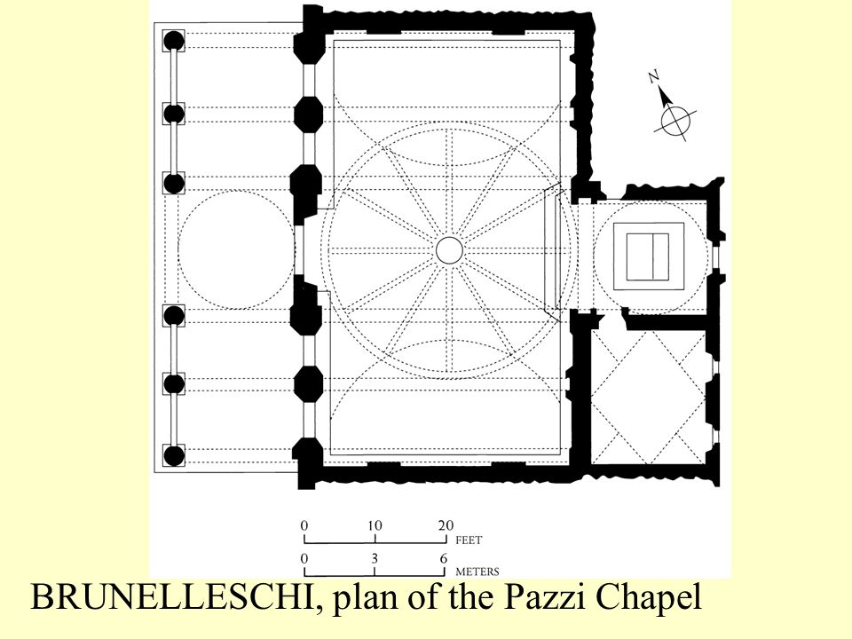 BRUNELLESCHI, plan of the Pazzi Chapel