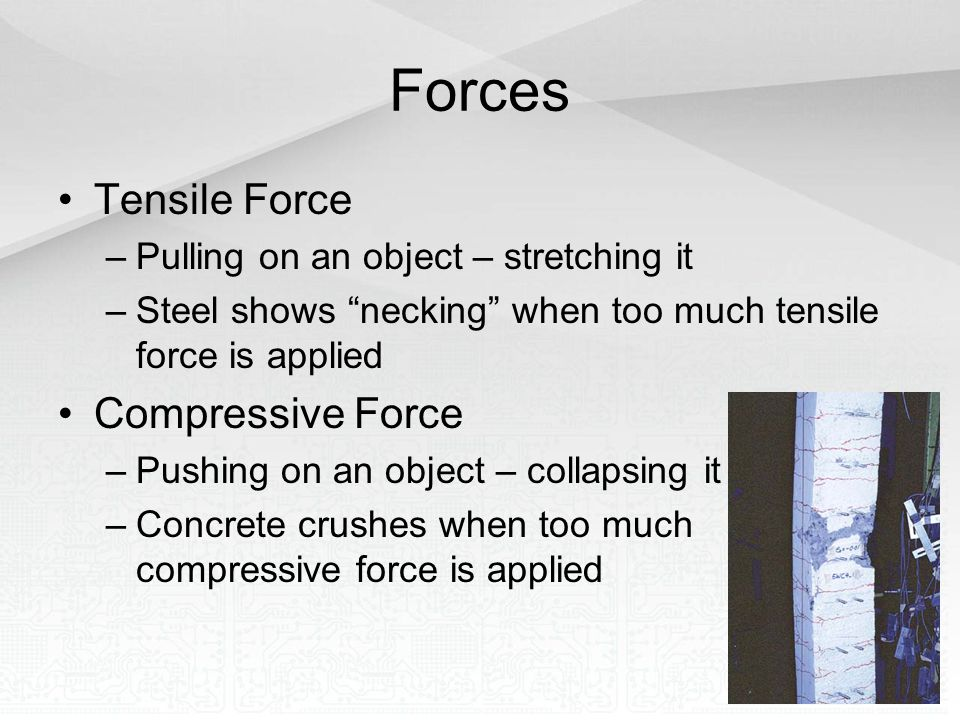 Forces Tensile Force Compressive Force