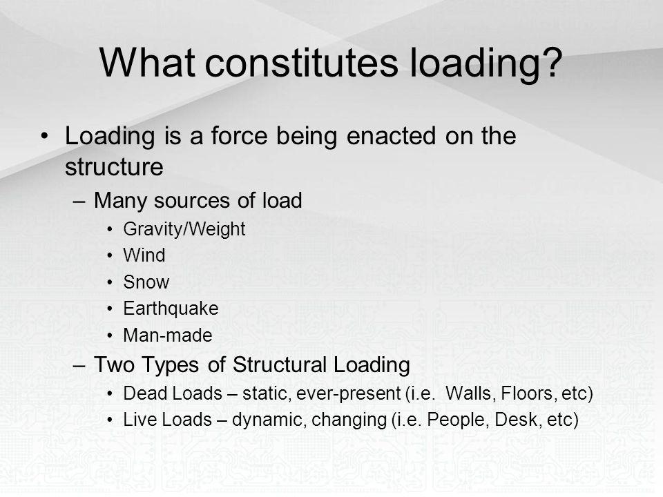 What constitutes loading
