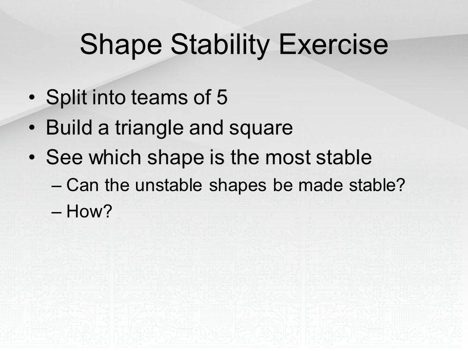 Shape Stability Exercise