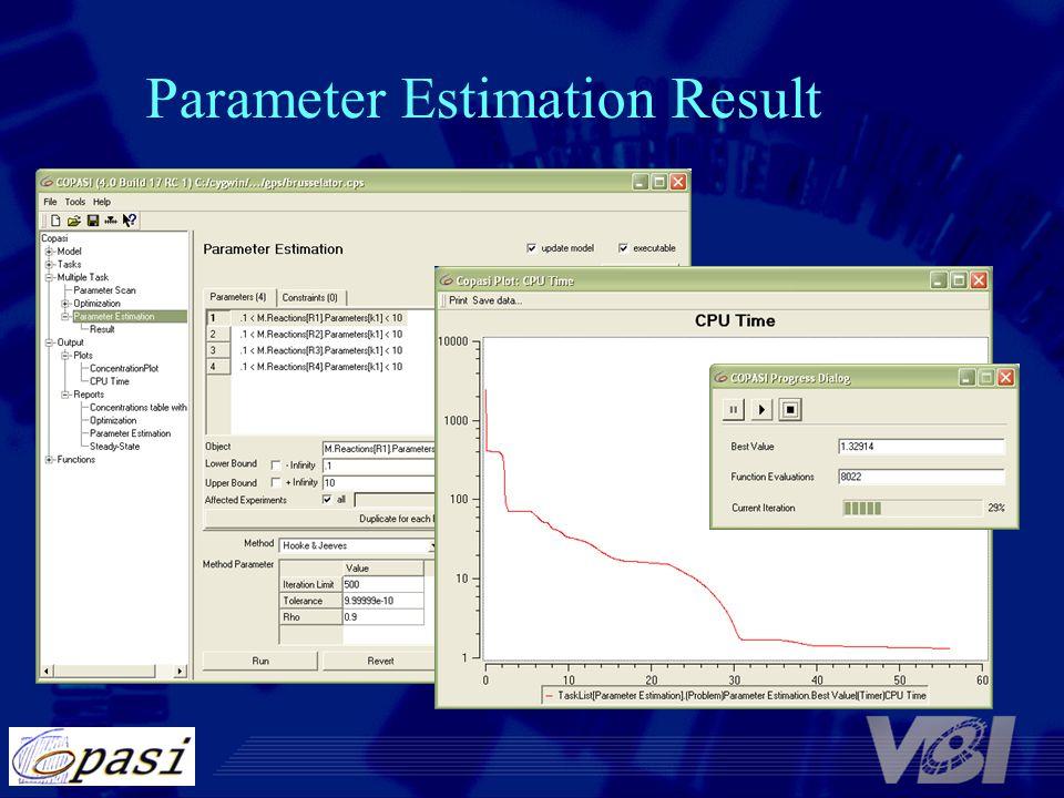 Parameter Estimation Result