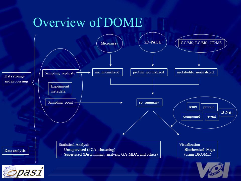 Overview of DOME Microarray 2D-PAGE Experiment metadata