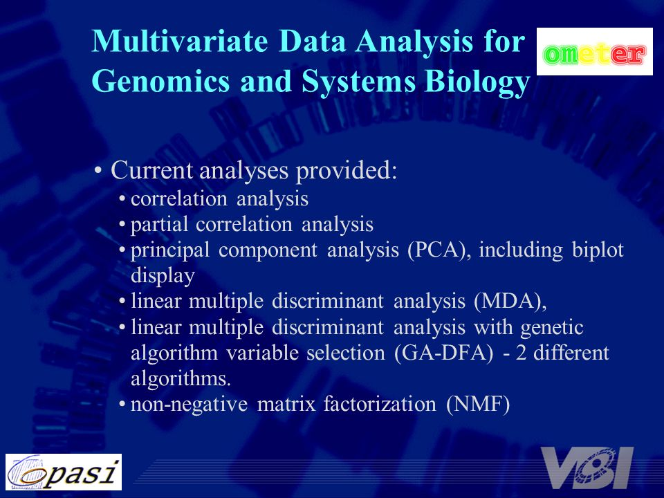 Multivariate Data Analysis for Genomics and Systems Biology