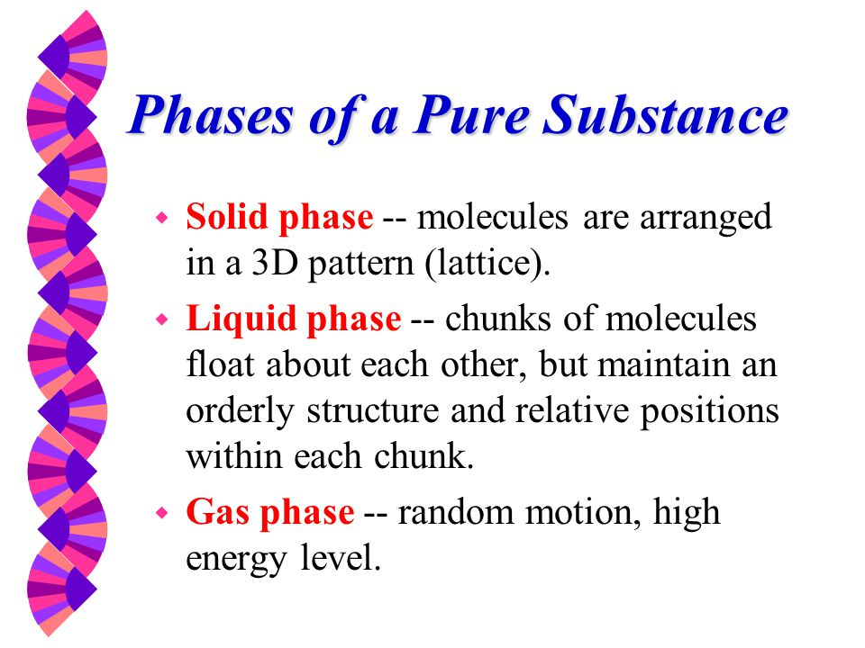 Phases of a Pure Substance