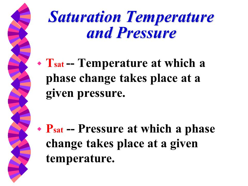 Saturation Temperature and Pressure