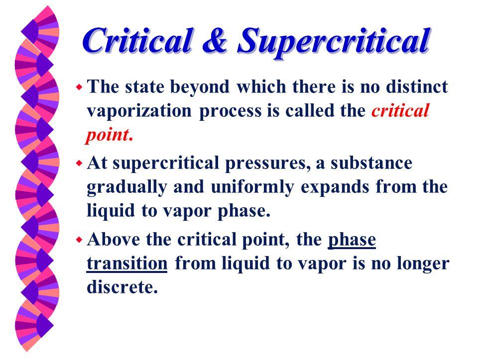 Critical & Supercritical
