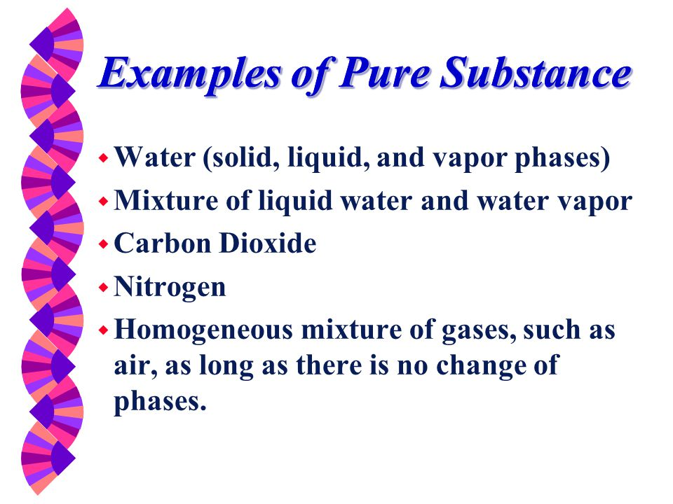 Examples of Pure Substance