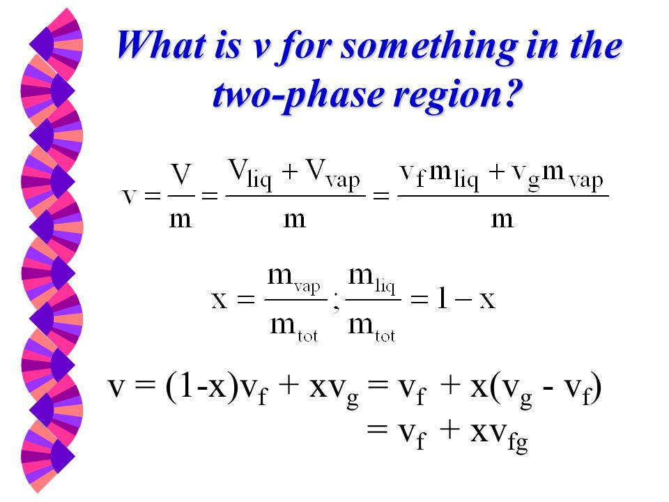 What is v for something in the two-phase region