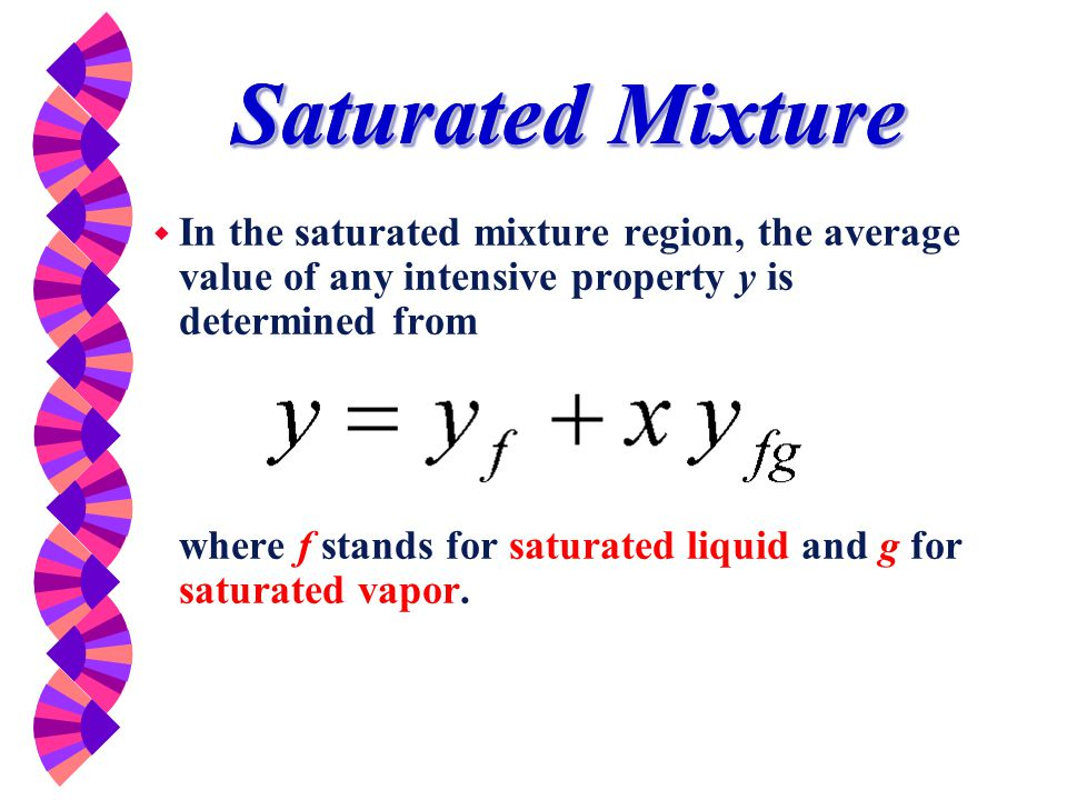 Saturated Mixture