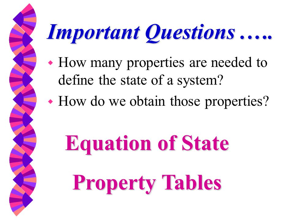 Equation of State Property Tables