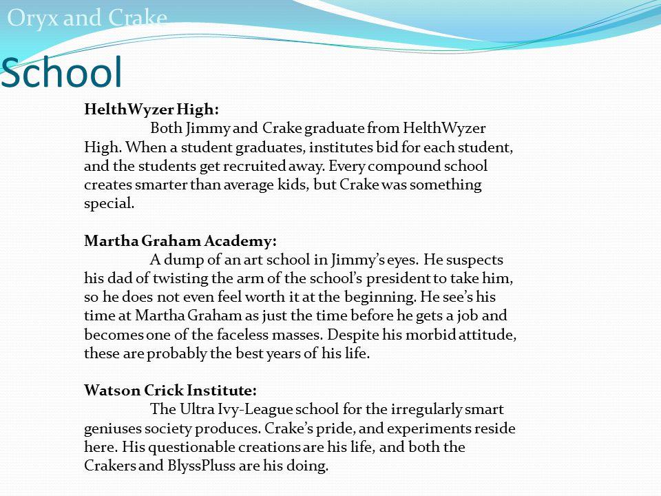 School Oryx and Crake HelthWyzer High: