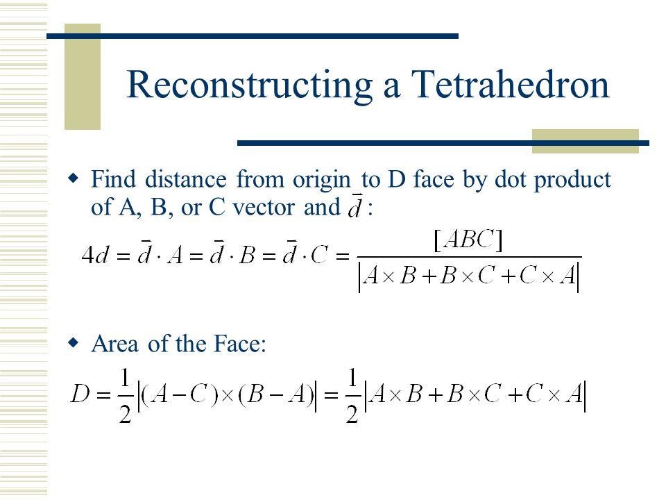 Reconstructing a Tetrahedron