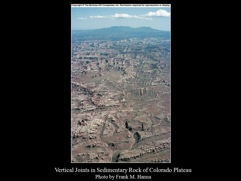Vertical Joints in Sedimentary Rock of Colorado Plateau