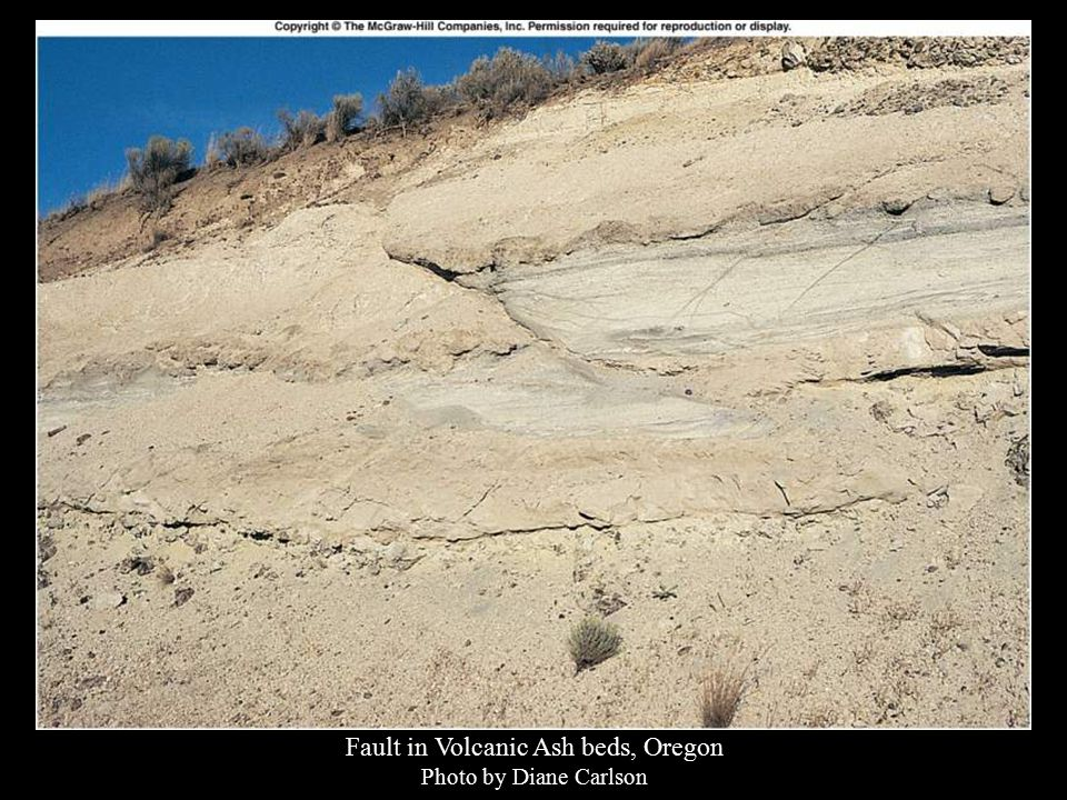 Fault in Volcanic Ash beds, Oregon