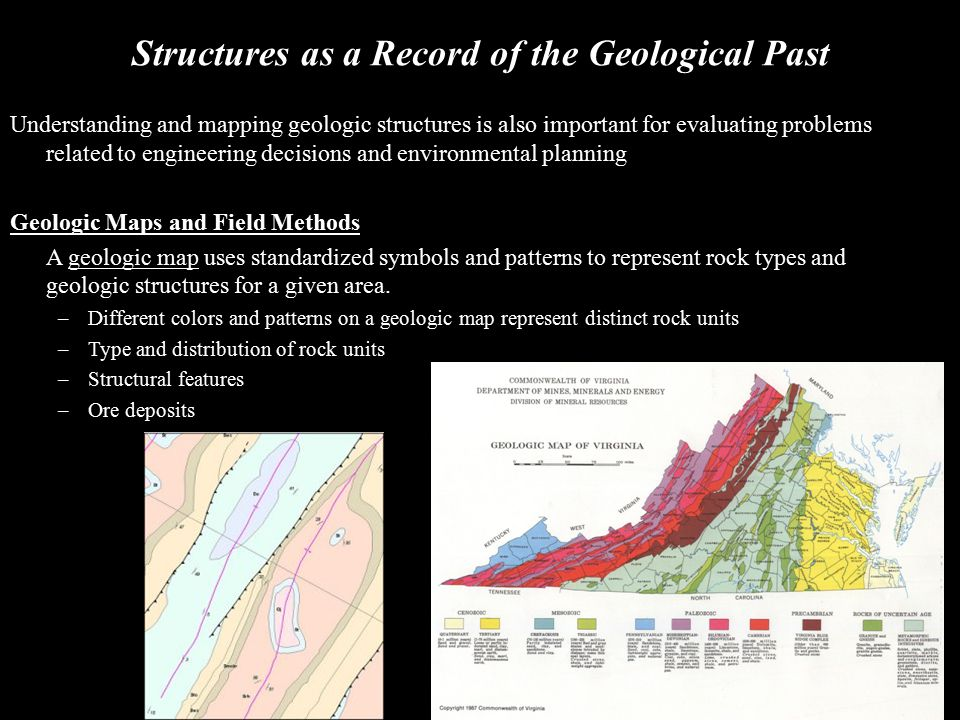 Structures as a Record of the Geological Past