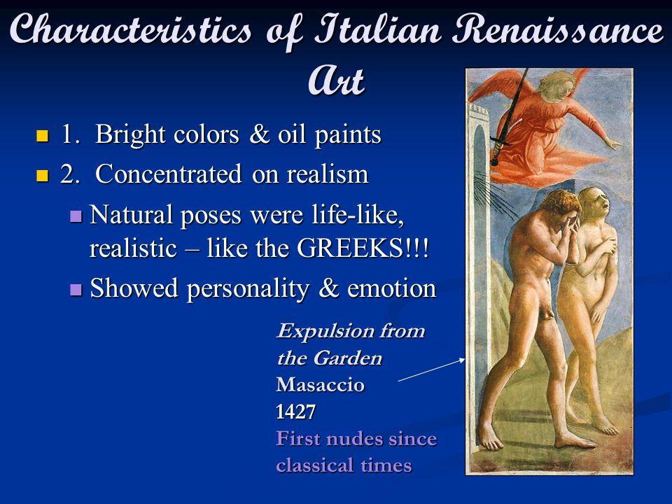 Characteristics of Italian Renaissance Art
