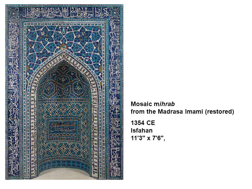 Mosaic mihrab from the Madrasa Imami (restored)