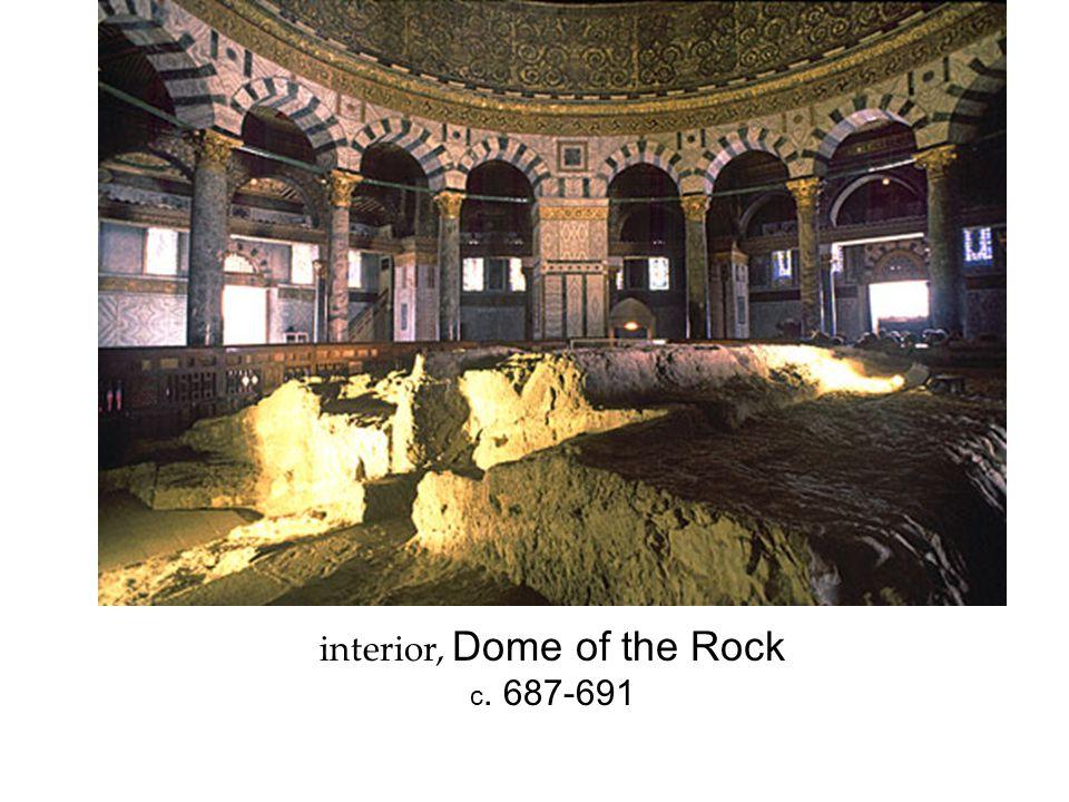 interior, Dome of the Rock c. 687-691