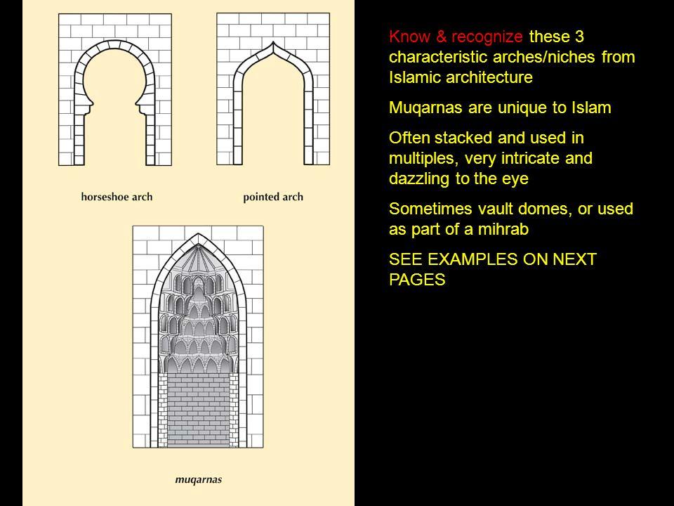 Muqarnas are unique to Islam