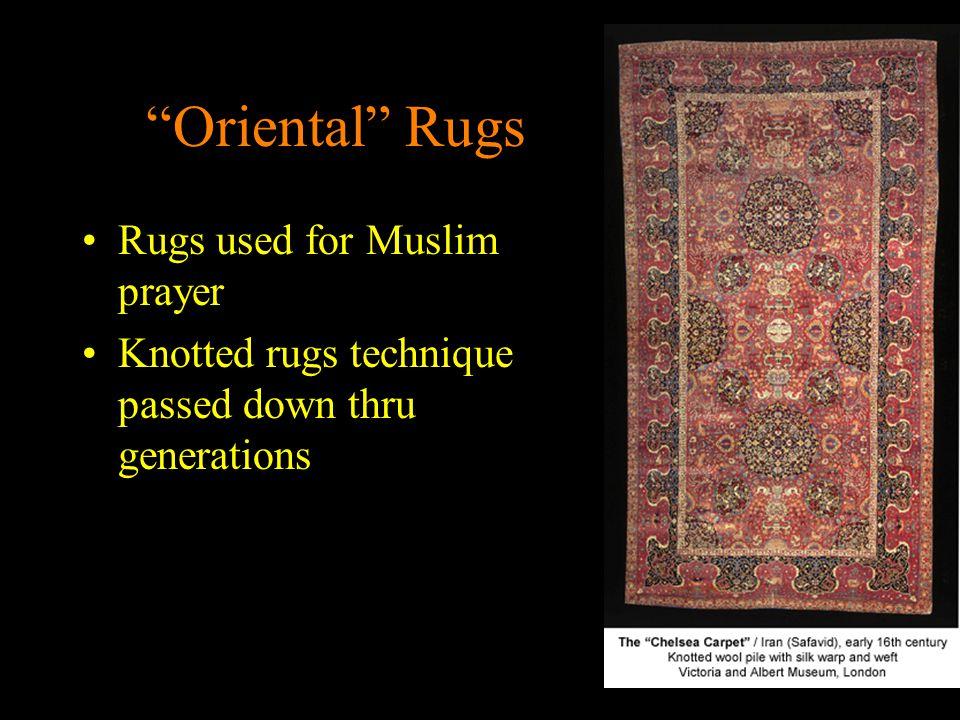 Oriental Rugs Rugs used for Muslim prayer
