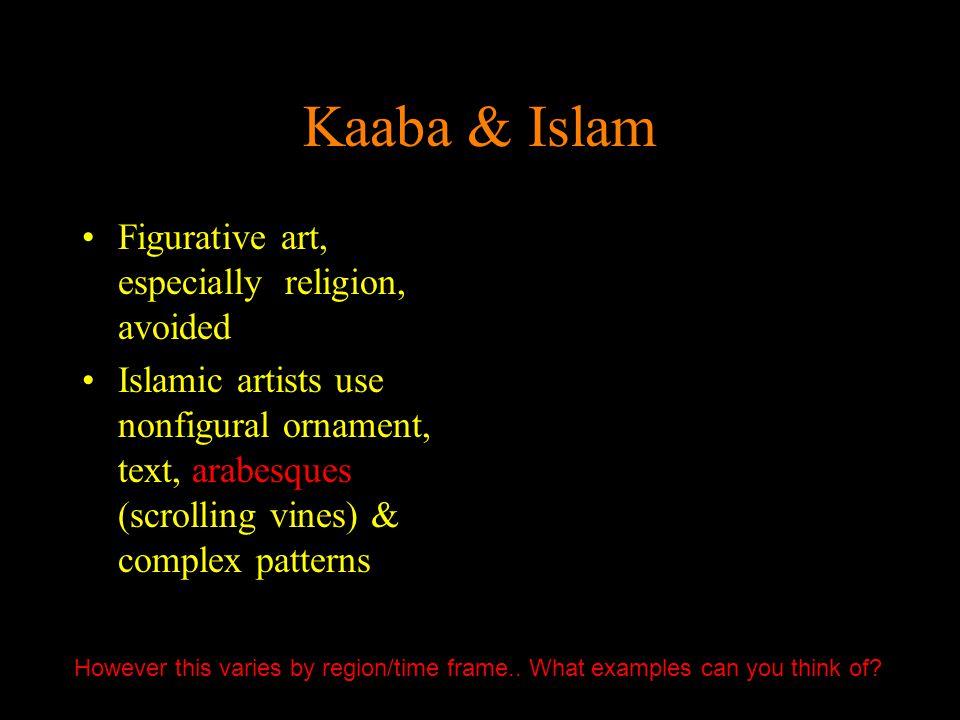 Kaaba & Islam Figurative art, especially religion, avoided
