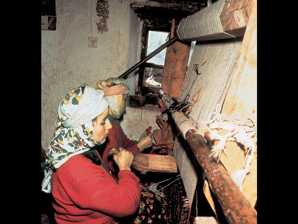 Artist: n/a Title: A woman weaving Medium: n/a Size: n/a Date: n/a Source/Museum: n/a