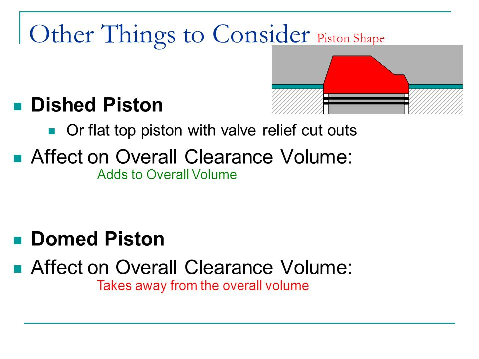 Other Things to Consider Piston Shape