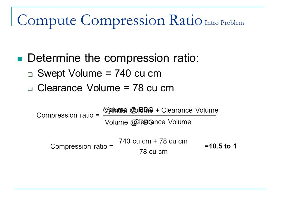 Compute Compression Ratio Intro Problem