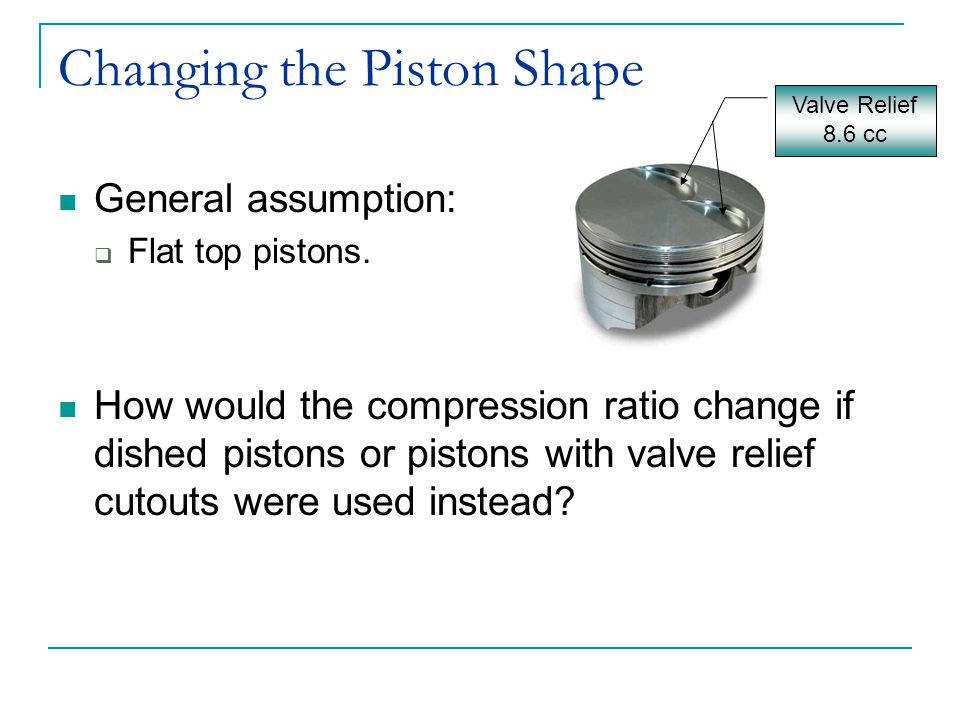 Changing the Piston Shape