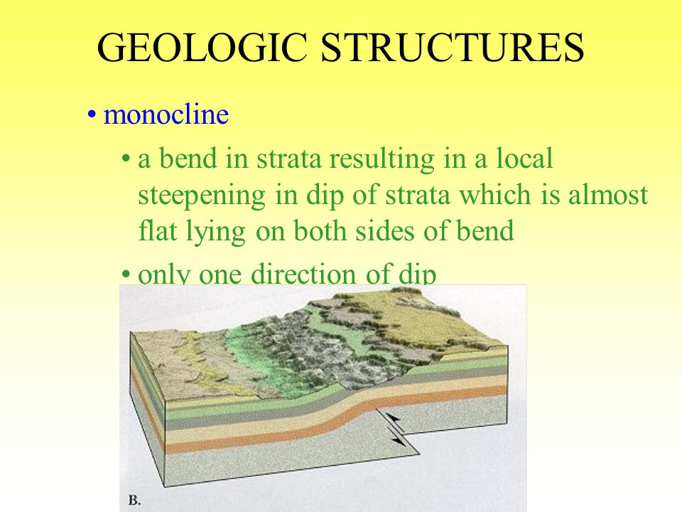 GEOLOGIC STRUCTURES monocline