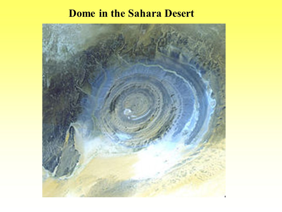 Dome in the Sahara Desert