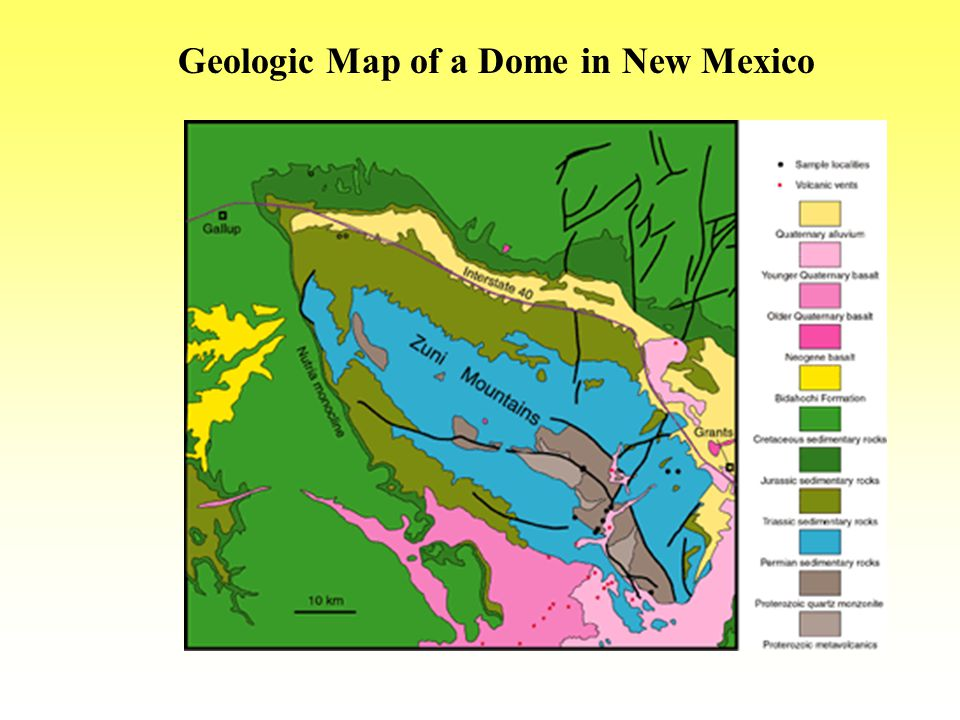 Geologic Map of a Dome in New Mexico