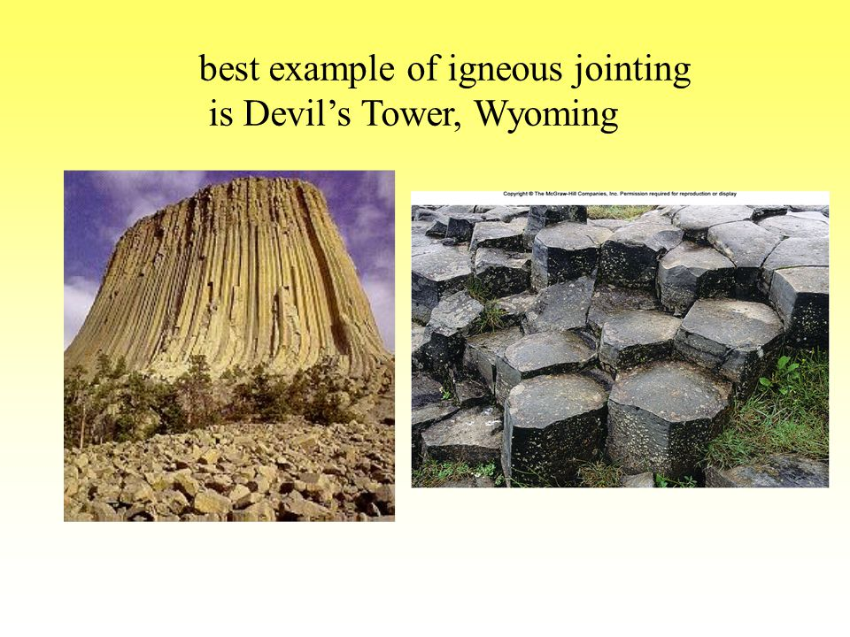 best example of igneous jointing