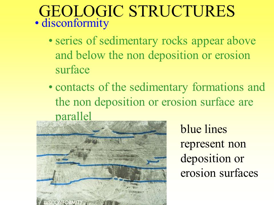 GEOLOGIC STRUCTURES disconformity
