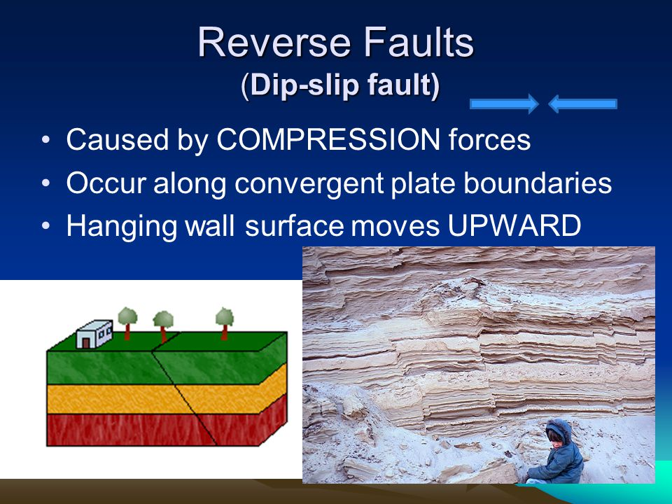 Reverse Faults (Dip-slip fault)