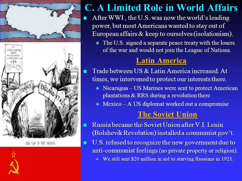 C. A Limited Role in World Affairs