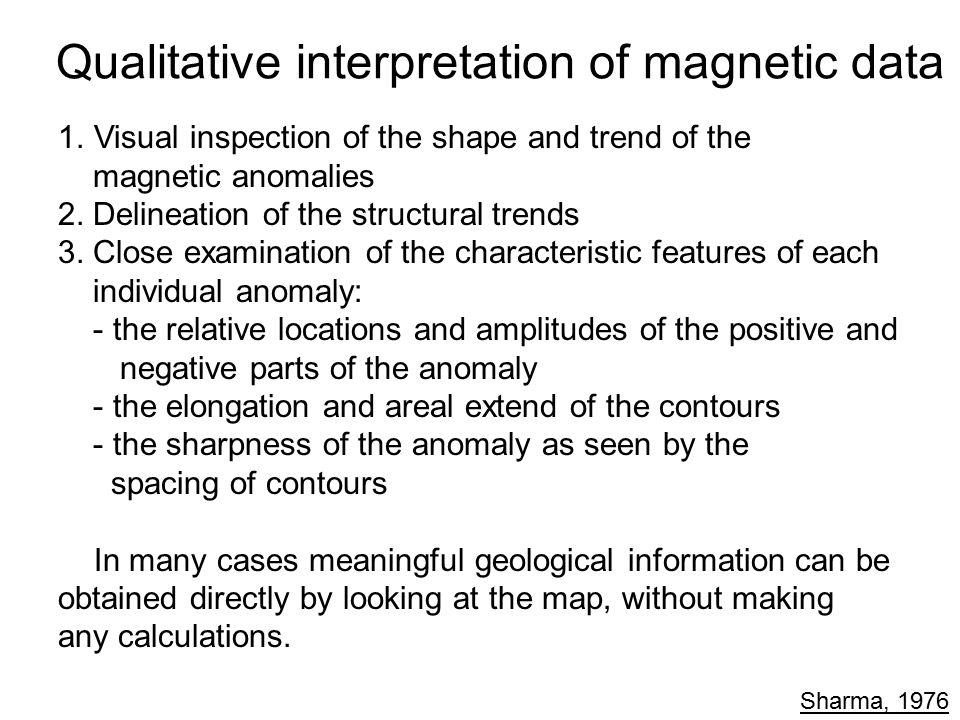 Qualitative interpretation of magnetic data