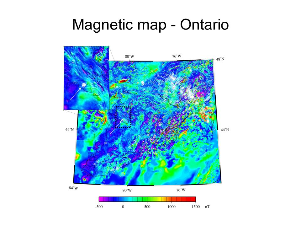 Magnetic map - Ontario
