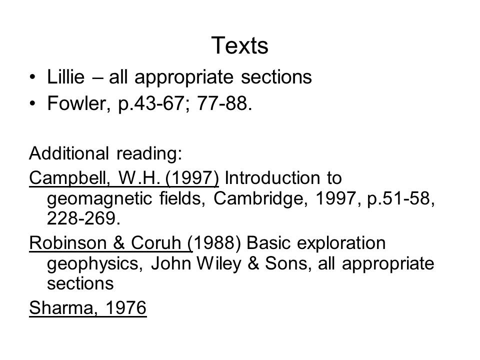 Texts Lillie – all appropriate sections Fowler, p.43-67; 77-88.