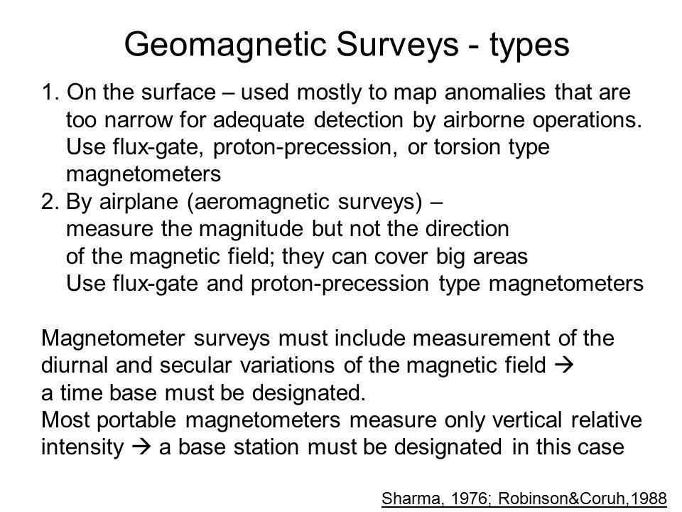Geomagnetic Surveys - types