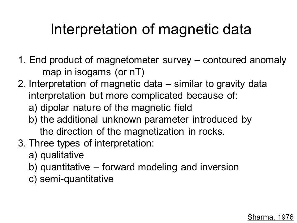 Interpretation of magnetic data