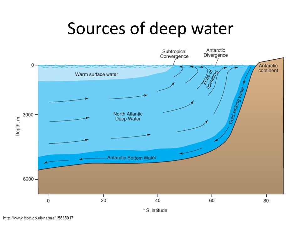 Sources of deep water http://www.bbc.co.uk/nature/15835017