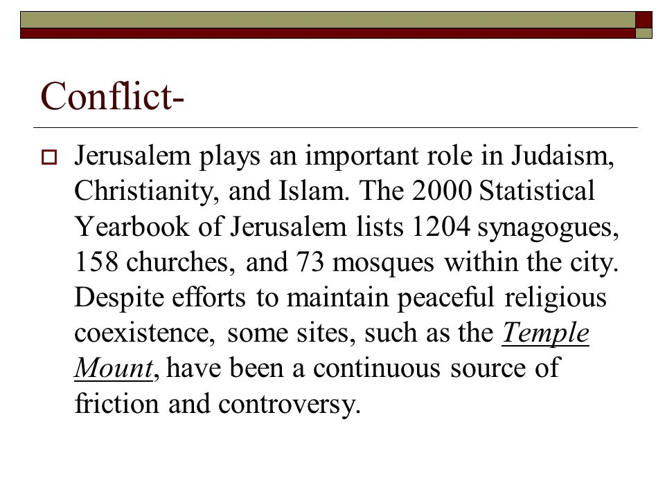 Conflict-