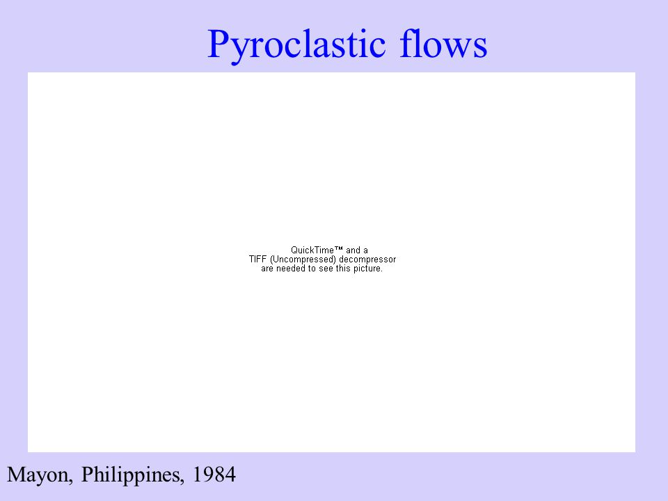 Pyroclastic flows Mayon, Philippines, 1984