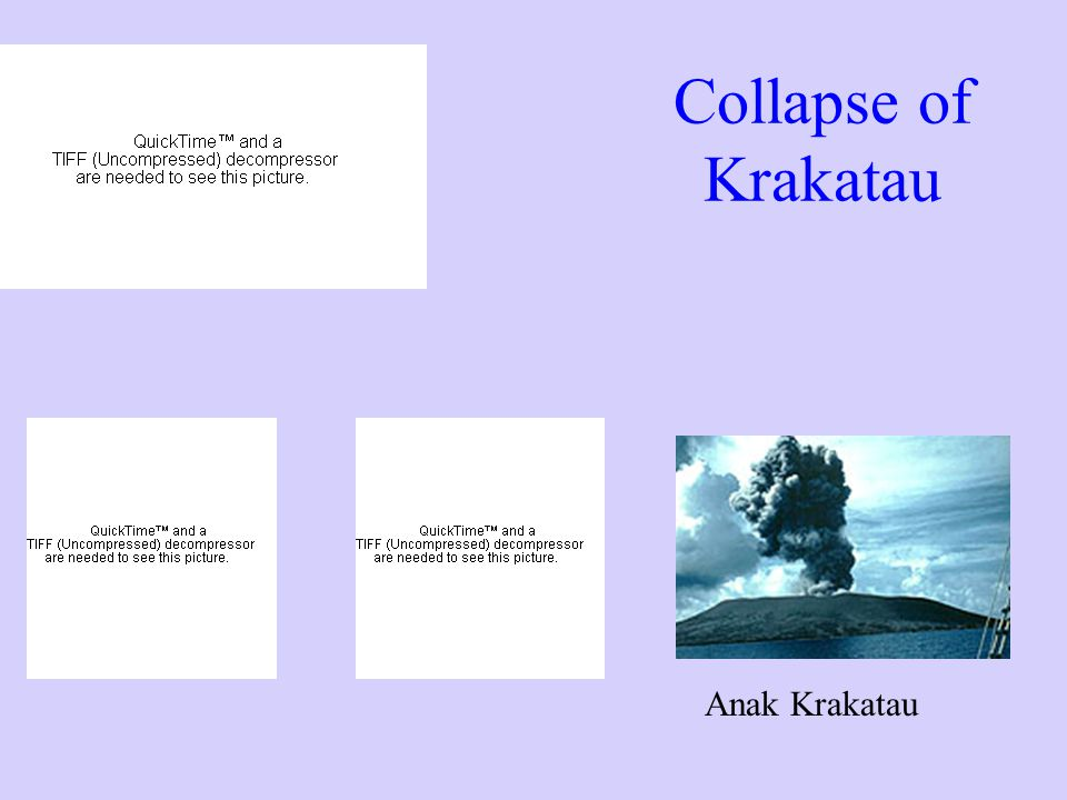 Collapse of Krakatau Anak Krakatau