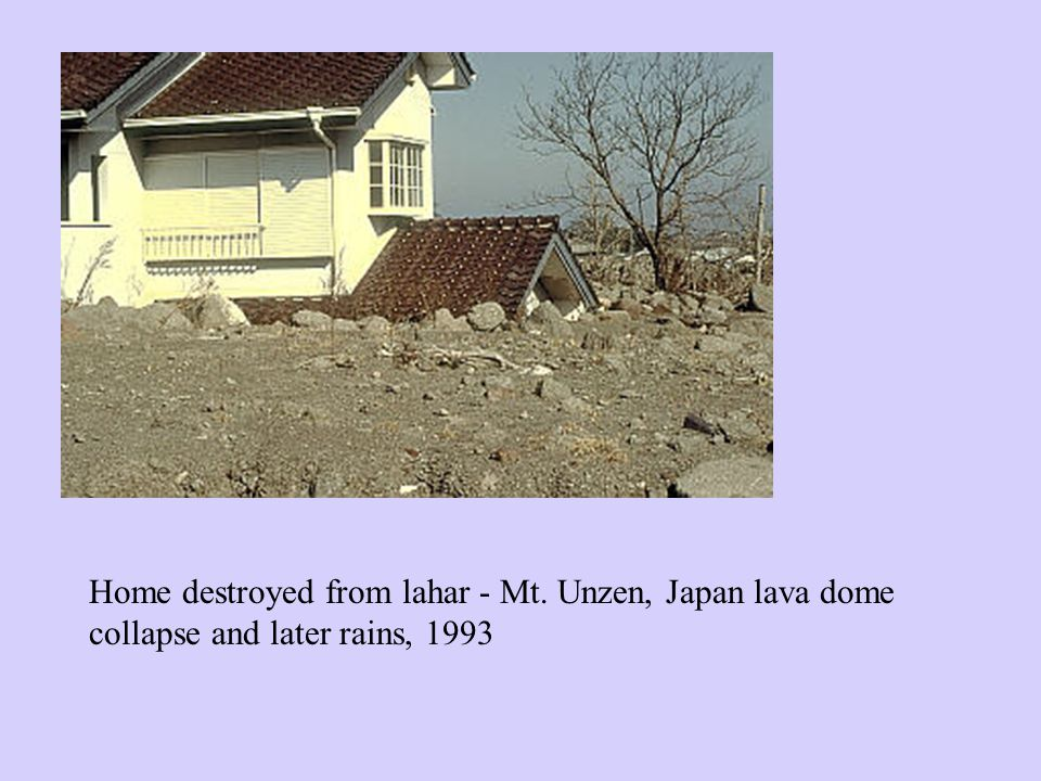 Home destroyed from lahar - Mt