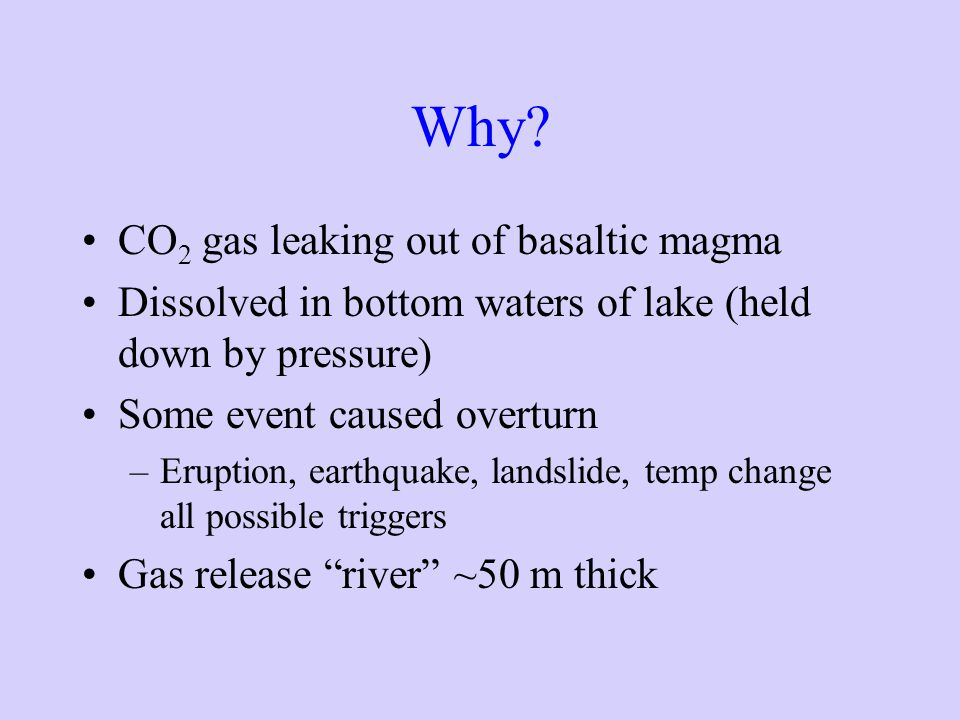 Why CO2 gas leaking out of basaltic magma