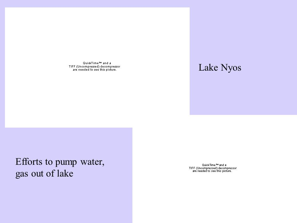 Lake Nyos Efforts to pump water, gas out of lake