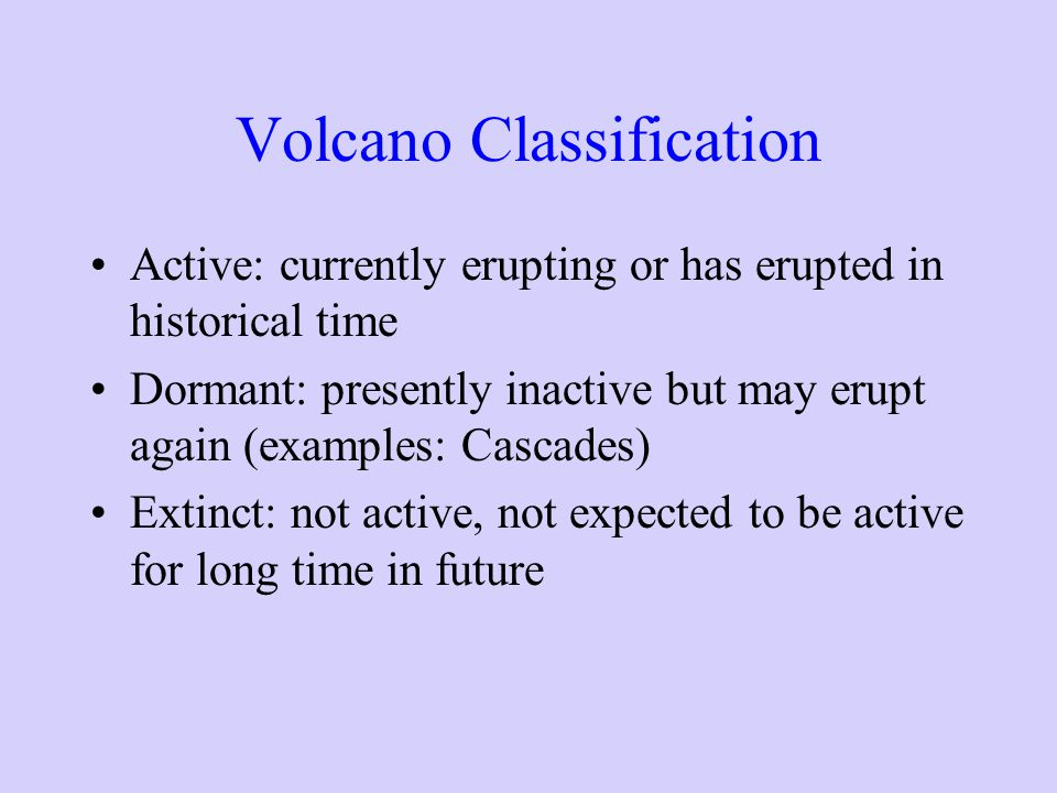 Volcano Classification